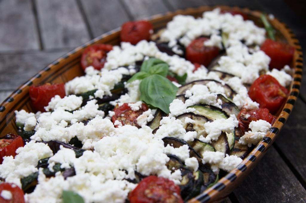 recept met aubergine en courgette