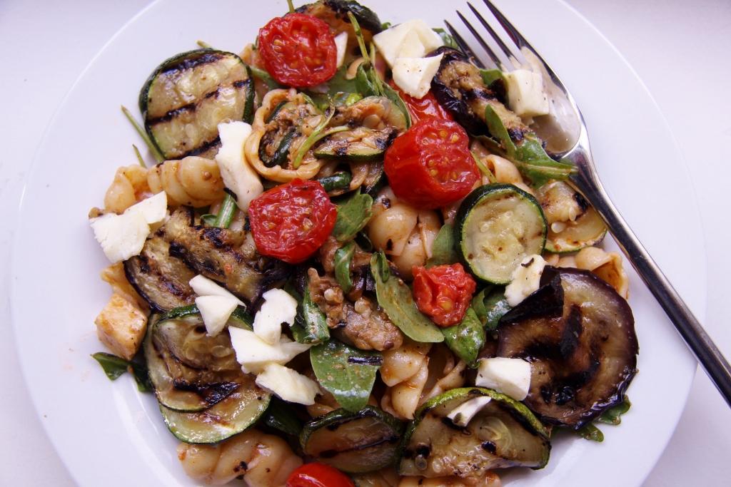 pasta pesto groenten