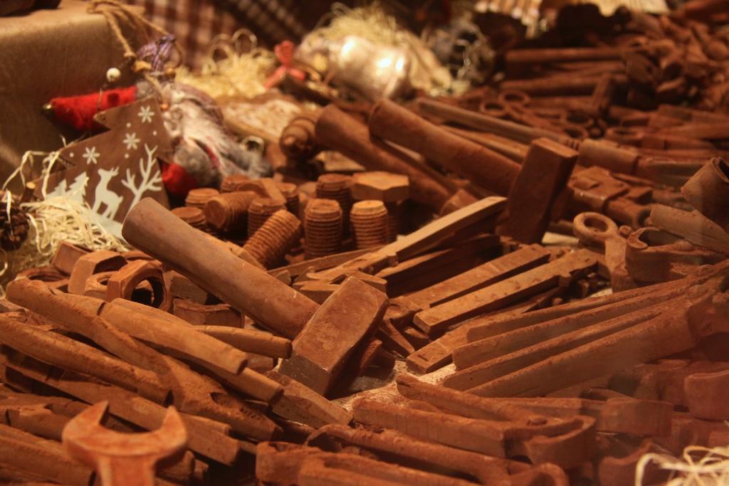 Gereedschap van chocolade.