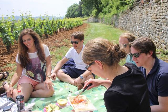picknick in de Bourgogne