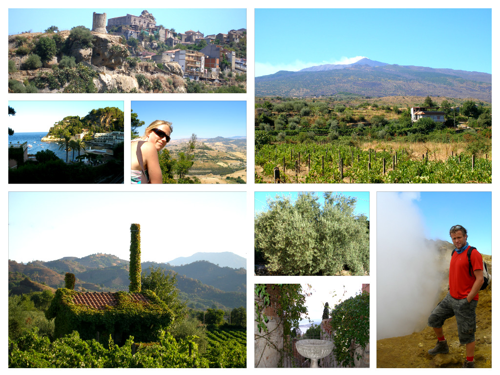 Collage van Sicilië