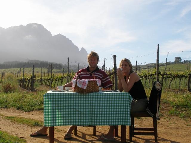 ontbijten bij de wijnboer