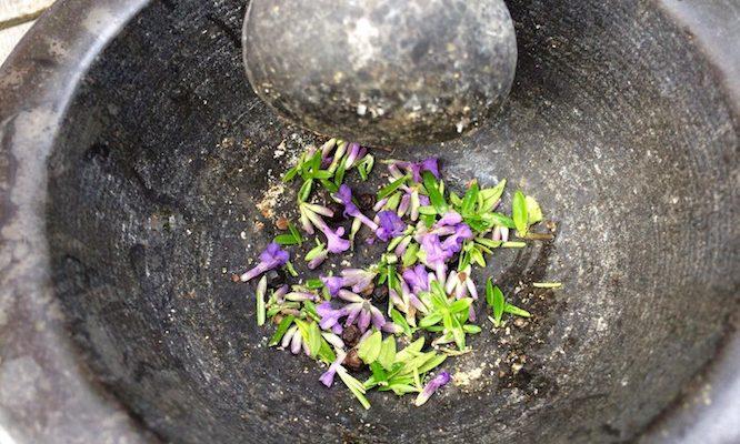 Provençaalse rub met lavendel