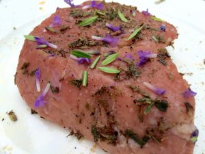 kalfsoester met lavendel rub