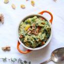 Pompoenstamppot met spinazie en chorizo