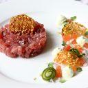 Tonijntartaar met wasabi en pittige kletskopjes
