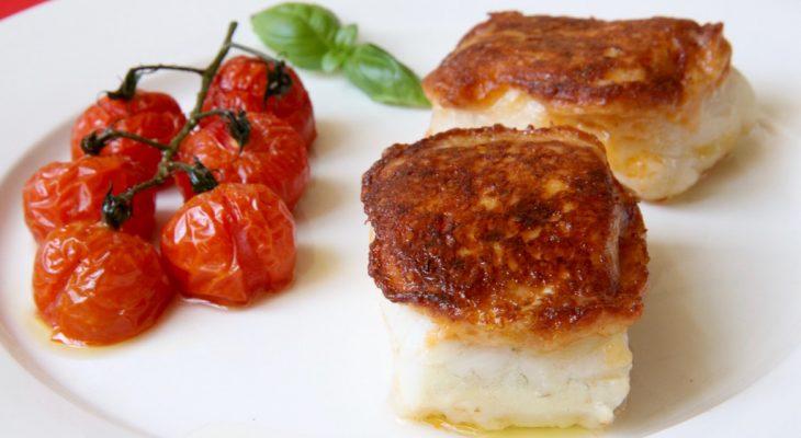 Kabeljauw met pesto en parmezaanse kaas