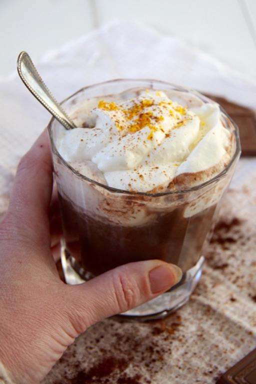 Warme chocolademelk met Grand Marnier