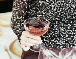 Cranberry wodka champagne cocktail